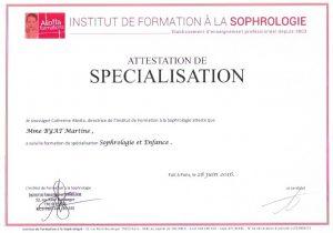 SPECIALISATION SOPHRO ENFANCE 1